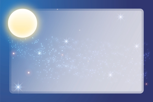 <Frame> Full moon night · Milky Way