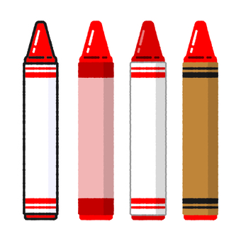 Hand-drawn wind crayon red