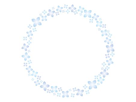 Hydrangea round frame