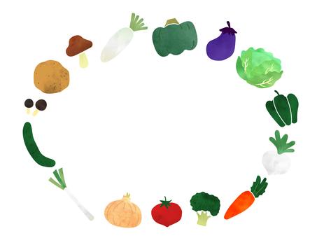 Watercolor vegetable frame 1