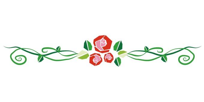Rose line red