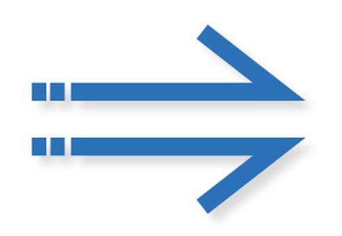Arrow _ Single Line _ Blue