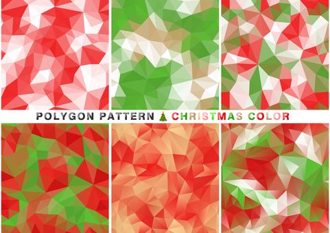 Polygon pattern Christmas color