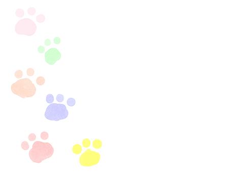 Watercolor animal footprint