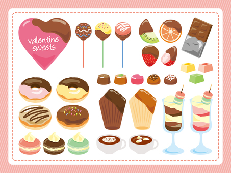 Valentine's sweets set