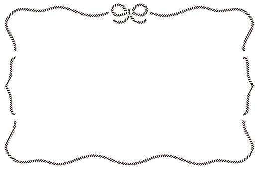 Ribbon frame black