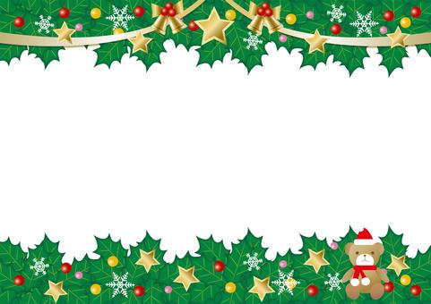 크리스마스 배경과 테디 베어