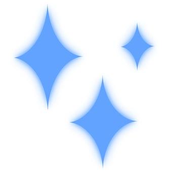 Luminous glitter 1 blue