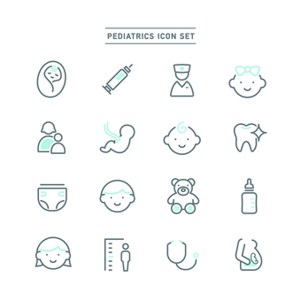 Pediatrics icon set