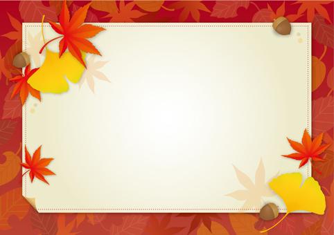 Fall decorative frame
