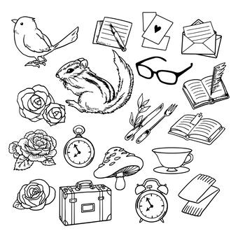 Hand-drawn style illustration