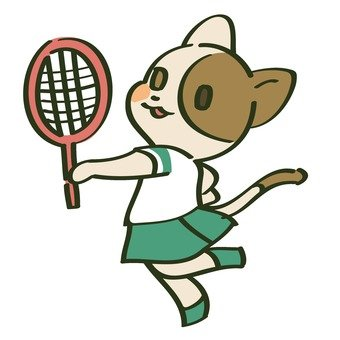 Racket and cat