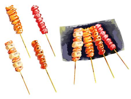 烤雞肉串(醬)拼盤