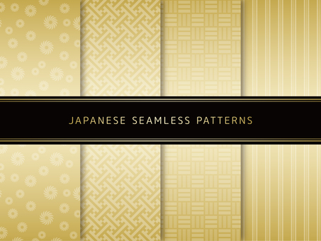 Set of Japanese Pattern of Gold -5