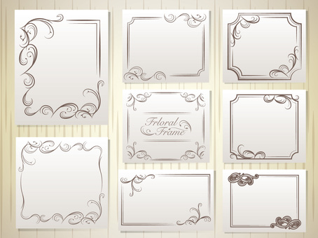 Elegant decorative ruler frame