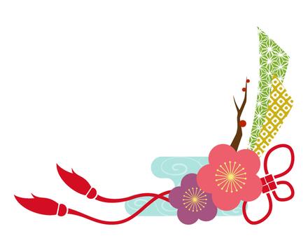 매화의 일본식 디자인 프레임 _ 화려한