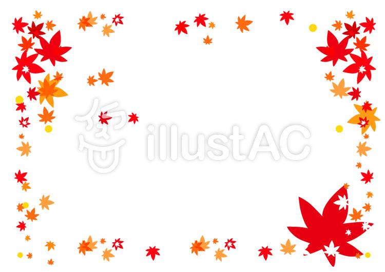 秋紅葉もみじのフレーム飾り枠イラスト No 542648無料イラスト