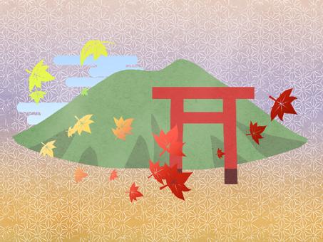 Mount Tsukuba in autumn