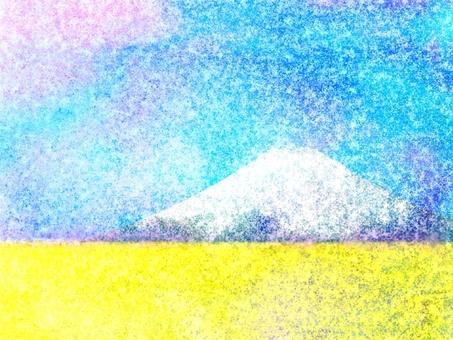 Fuji and rape flower E0433