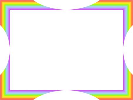 Rainbow-colored frame