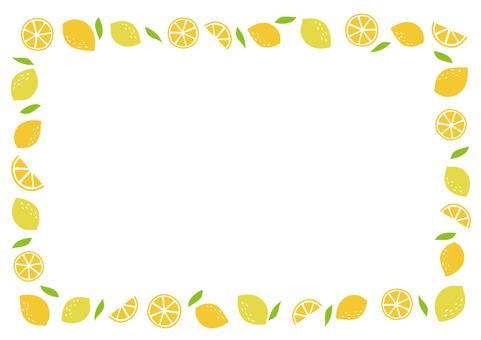 상쾌한 레몬 프레임