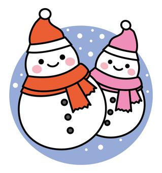 雪だるまのカップル