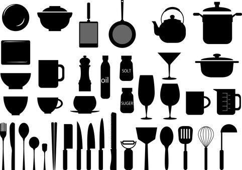 Kitchen Total Material Collection Black and White