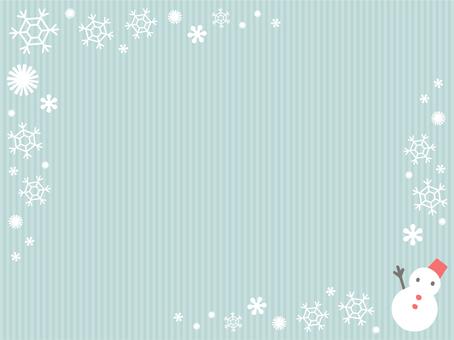 Snow and snowman frame