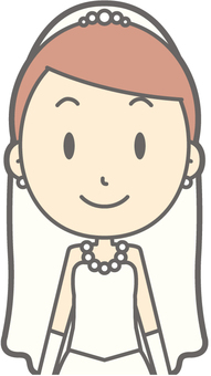 Bride dress - front - bust