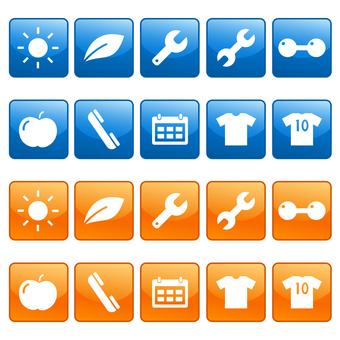 Phone, calendar, icon set