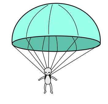 Parachute medium alien