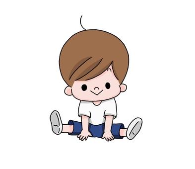 A boy who spreads legs