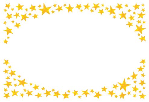Glittering star frame 1