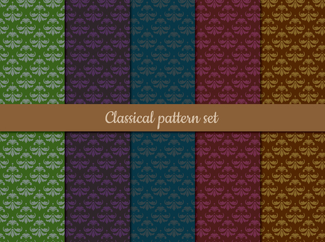 Antique style pattern set