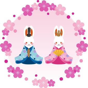 Usagi and Hina doll