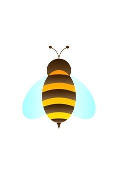 꿀벌의 뒷모습