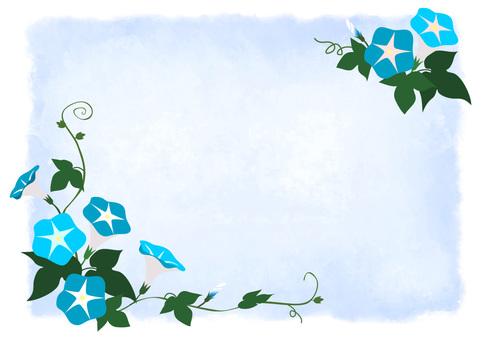 Asagao watercolor style background Ao