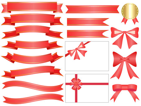 Ribbon's icon set red