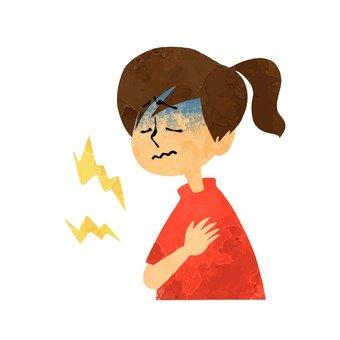 女人的胸口疼