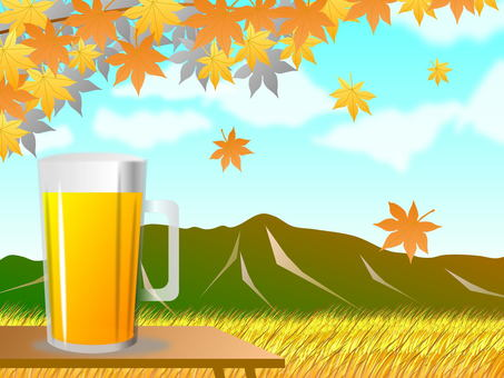 Beer and rural landscape
