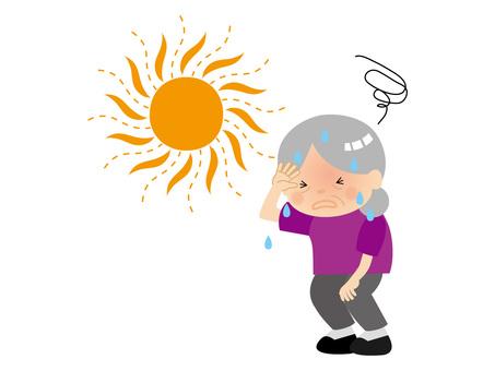 Elderly with heat stroke 2 / type i / uta