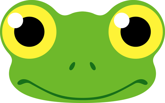 Frog facial expression