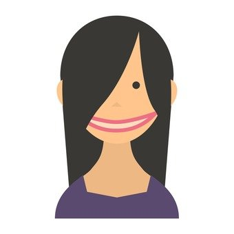 Mouth cleft woman