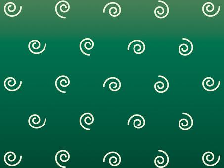 Wallpaper spiraling green