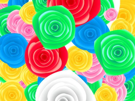 全面の薔薇の壁紙素材