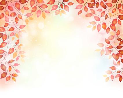 붉은 나뭇잎 프레임