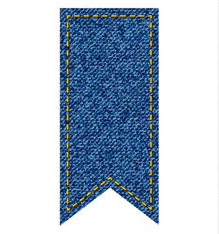 Denim style ribbon