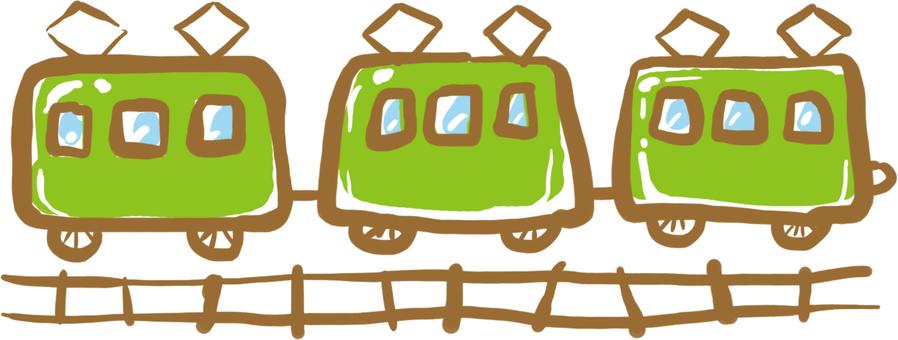 車輛系列★綠色的火車★