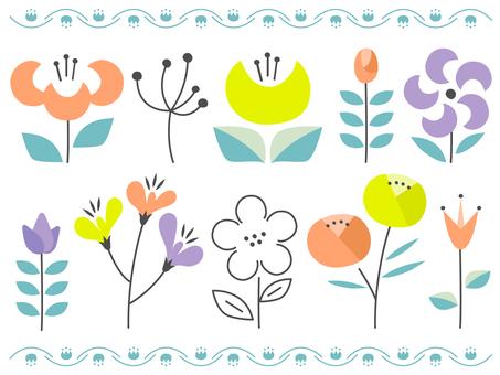 斯堪的納維亞設計風格的花