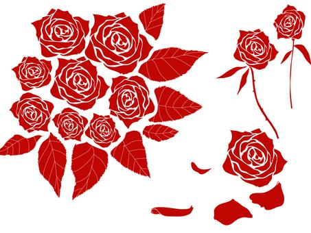 Cut rose silhouette